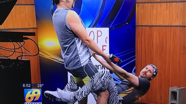 Fake Strongman Duo Chop & Steele Prank Morning Shows